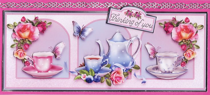 3D teatime 'thinking of you' Card (by Tassie Scrapangel)