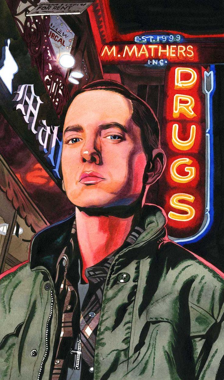 Pictures of eminem and kim mathers kim wedding eminem kim car tuning - Portrait Of Marshal Mathers Aka Eminem Rolling Stone Magazine 2009