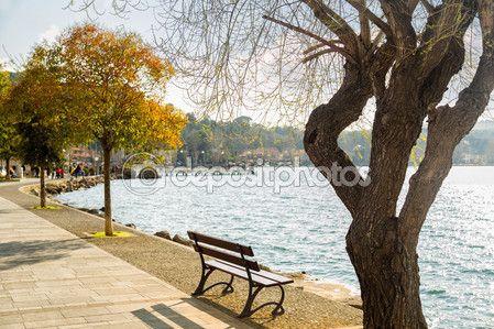 Shore of Bracciano lake - Anguillara Sabazia (Italy) — Foto Stock © massimilianoranauro #68416515
