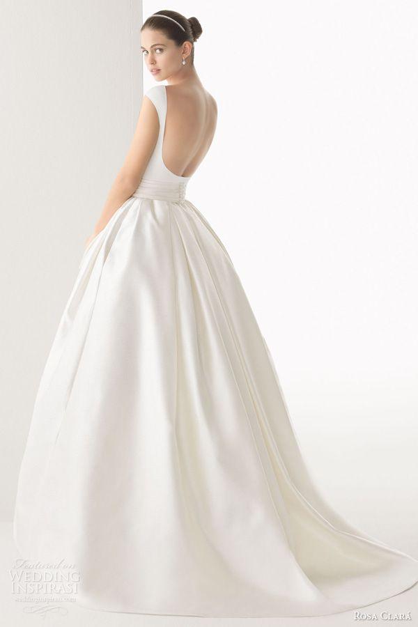 rosa clara bridal 2014 cordoba silk knit rustic silk skirt ball gown open back