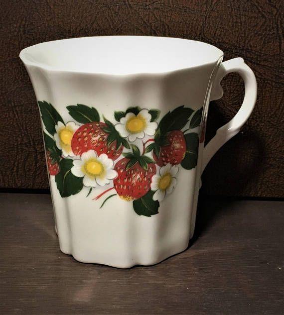 Royal Grafton Fine Bone China Strawberries Mug