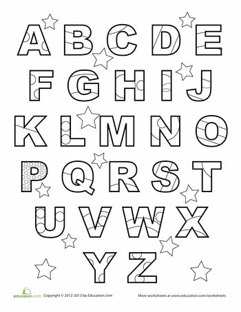 abc coloring page worksheets for preschoolerscoloring - Preschool Coloring Worksheets