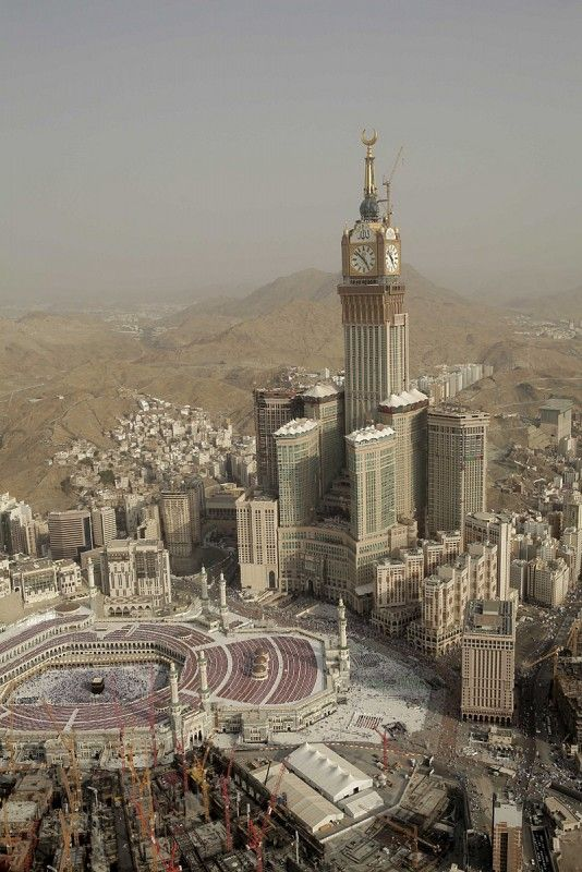 Abraj Al-Bait Towers, also known as the Mecca Royal Hotel Clock Tower - Mecca, Saudi Arabia.