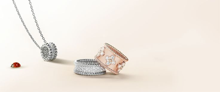 Perlée Bracelets & Rings - Refined yet playful, Perlee unveils a symphony of pink, white, and yellow gold beads and the occasional adornment of diamonds.
