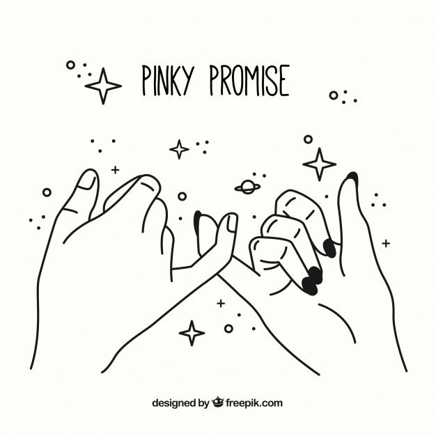 Me and my friend Ridge always pinkie promise each other stuff because that's t… – Lauren Carius