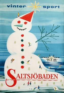 Vinter Sport: Saltsjobaden, Sweden 1950 poster