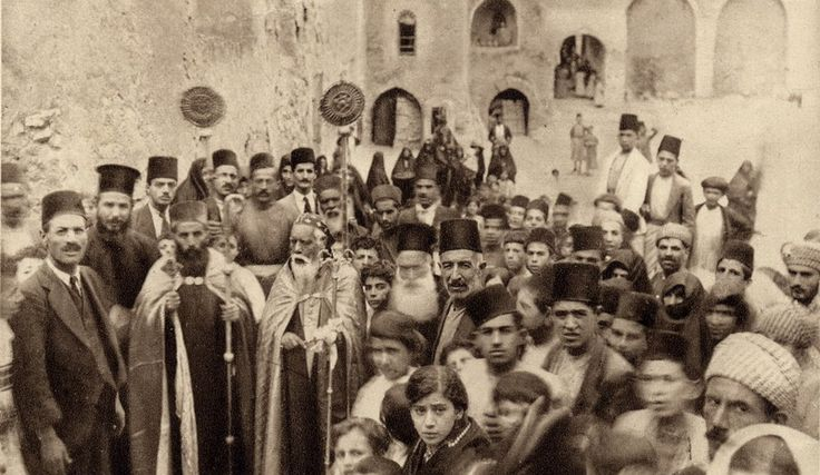 SyriacChurch-Mosul - Assyrian people - Celebration at a Syriac Orthodox monastery in Mosul, Ottoman Syria, early 20th century.