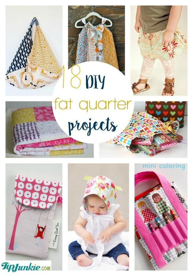 18 DIY Fat Quarter Projects via The Tip Junkie #sewing #quickandeasy