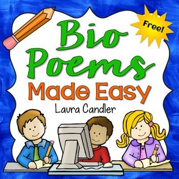 FREE Bio Poems Made Easy - A bio poem is a simple poem written about a person, and it follows a predictable pattern. You can have students write Bio Poems about themselves, but later you can have them write about famous historical figures or book characters. This lesson includes directions, a graphic organizer, a template, an example bio poem.