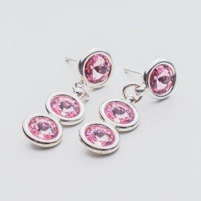 Swarovski Rivoli Earrings 6/6/6mm Light Rose  Dimensions: length: 3,2cm stone size: 6mm Weight ( silver) ~ 3,30g ( 1 pair ) Weight ( silver + stones) ~ 3,95g Metal : sterling silver ( AG-925) Stones: Swarovski Elements 1122 SS29 ( 6mm ) Colour: Light Rose 1 package = 1 pair  Price 9 EUR