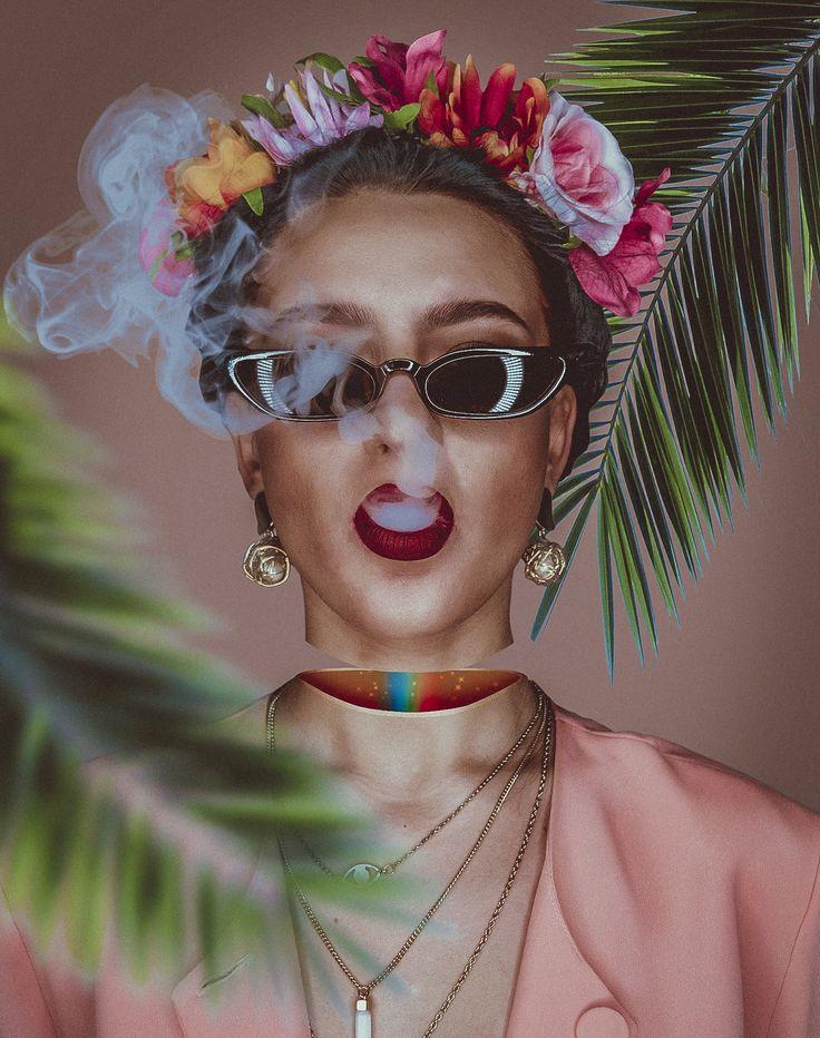 💀 Frida's partiality 💀 • • • • • #art #aesthetic #visualart #surrealism #popsurrealism #portrait #photooftheday #instaartoftheday #frida #fridakahlo #fridakahloart #fridakahloinspired #concept #creative #nikon #nikonphoto #photoshop #glitchart #glitch #grime #grimeart #taxcollection #rainbow #smoke #crystalart #digitalart #vision #flowers #print #myartisreal