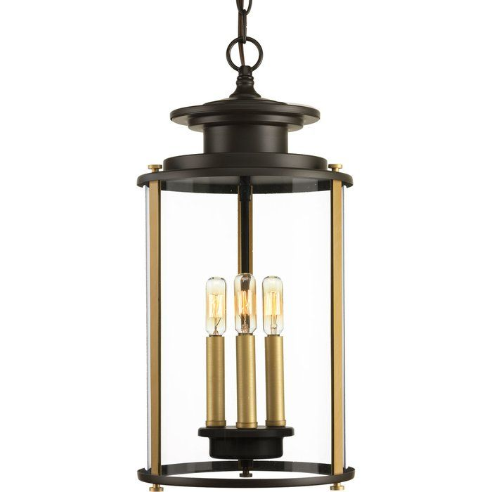 Evgenia 3 Light Outdoor Hanging Lantern With Images Outdoor