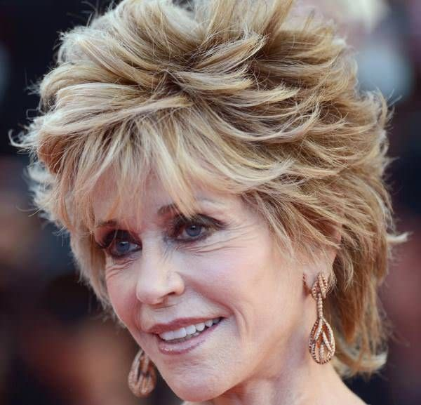 Spectacular Jane Fonda Hairstyles Shaggy And Curly Hair