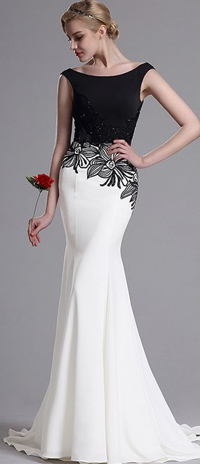 eDressit Embroidery Floral Mermaid Prom Dress