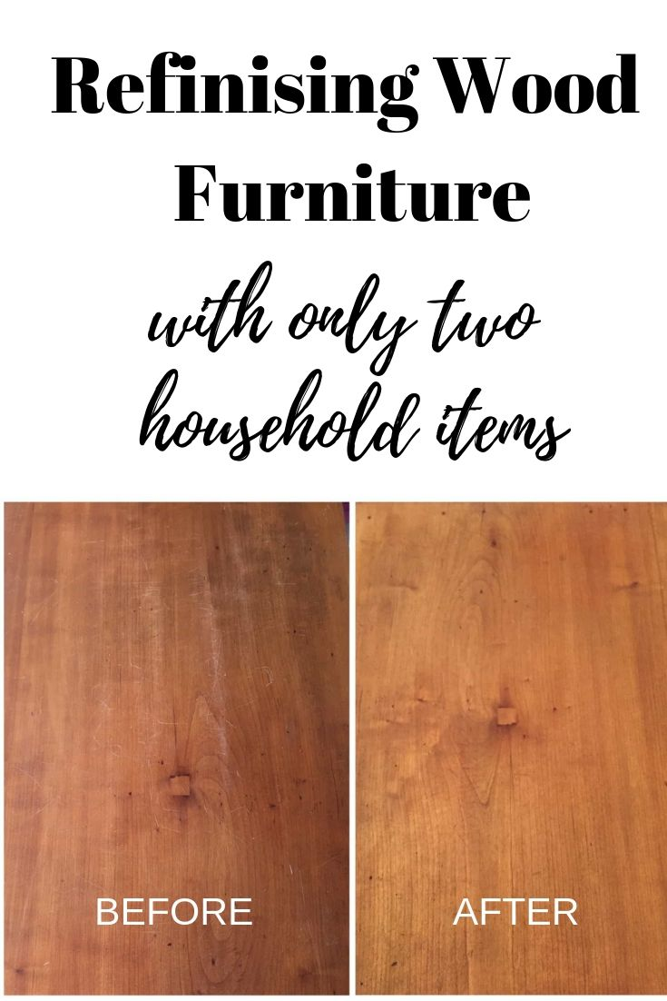 Refinishing Wood Furniture And Removing Scratches With Two