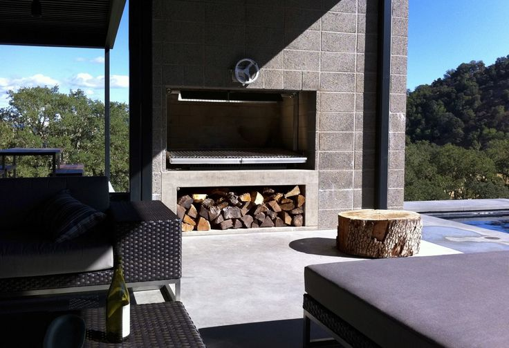 Architectural Built-In Wood Grills