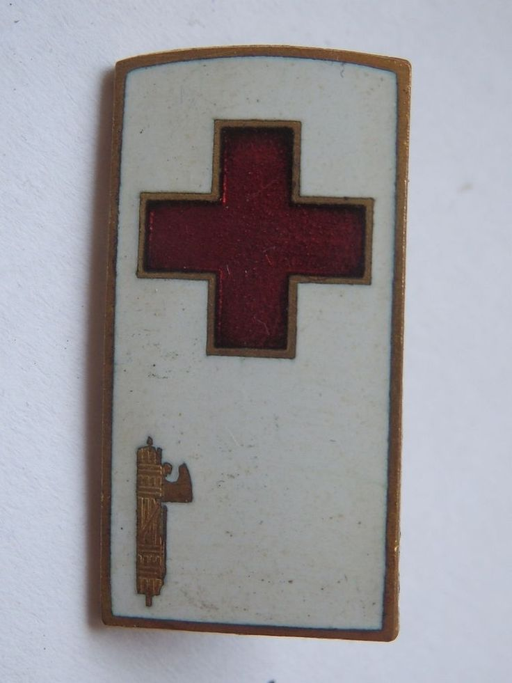 Old pin fascist fascismo Croce Rossa Red Cross Italy bis