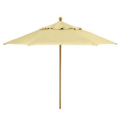 Tropitone Portofino 9.5' Market Umbrella Fabric: Luxor, Frame Finish: Snow, Opening Mechanism: Pulley