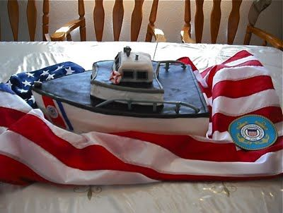 Wonderful Coast Guard cake! I would love to have this for hubby's retirement.