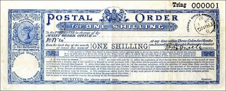 postal orders - Pam West British Bank Notes