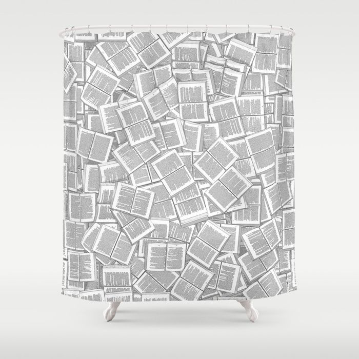 Buy Literary Overload Shower Curtain By Grandeduc Bibliophile Gifts For Bookish Readers Book Lovers And Bookworms