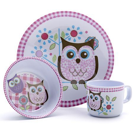 Owl Children\u0027s 3 Piece Dinnerware Set | Walmart.ca  sc 1 st  Pinterest & 204 best kids dinnerware \u0026 silverware....ect. images on Pinterest ...