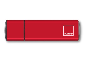 Pantone 186C with custom engraving flash drive!! OMG I need!