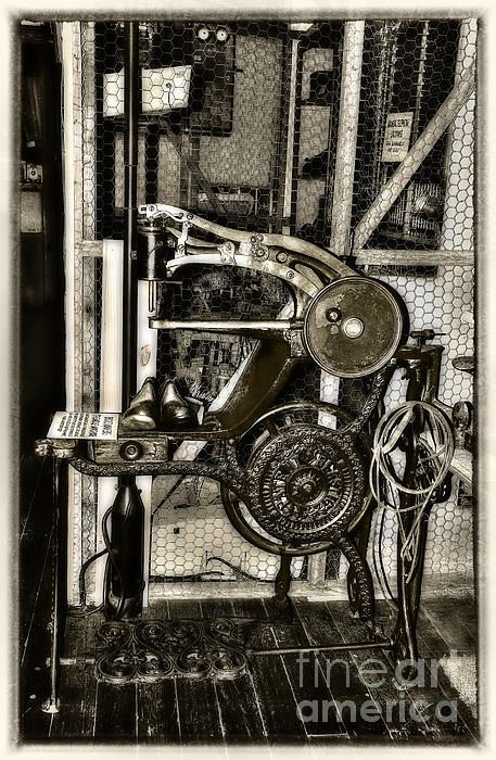 #BOOTMAKERS #ANTIQUE #TREADLE #MACHINE by #Kaye #Menner #Photography Quality Prints Cards Products at: http://kaye-menner.pixels.com/featured/bootmakers-antique-treadle-machine-by-kaye-menner-kaye-menner.html
