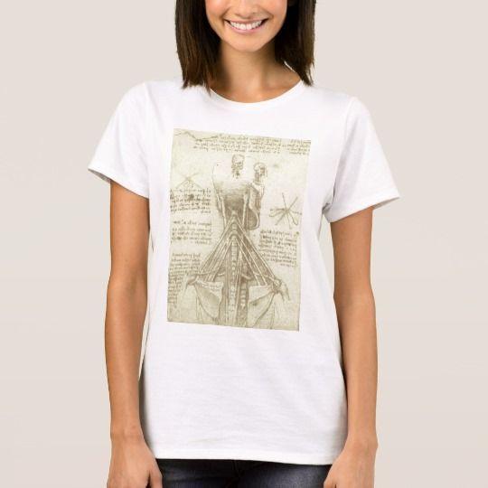 Completely customizable!-human Anatomy Spinal Column by Leonardo da Vinci T-Shirt