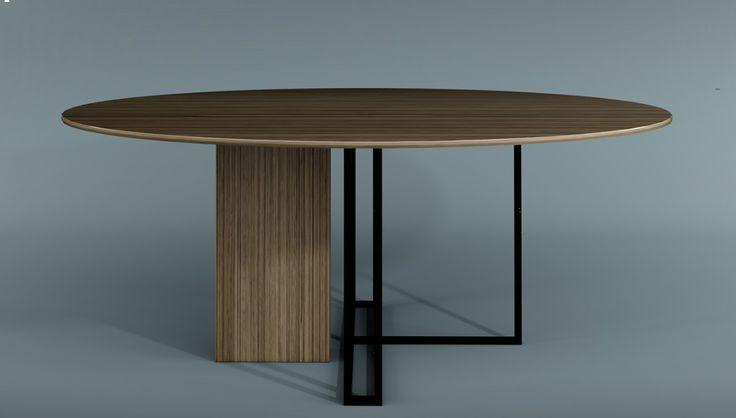 meridiani plinto round dining table