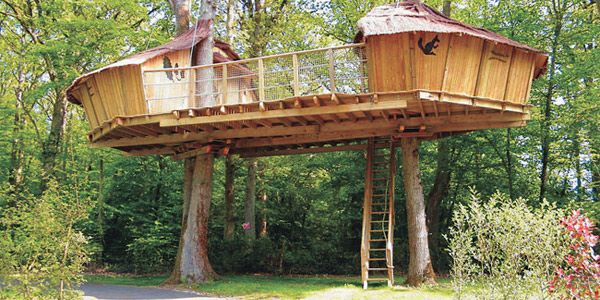 TREE HOUSE – Unique idea for a tree house. Amazing tree house balance.