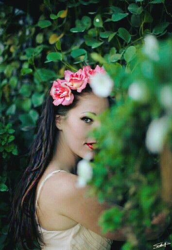 Flower garden shoot