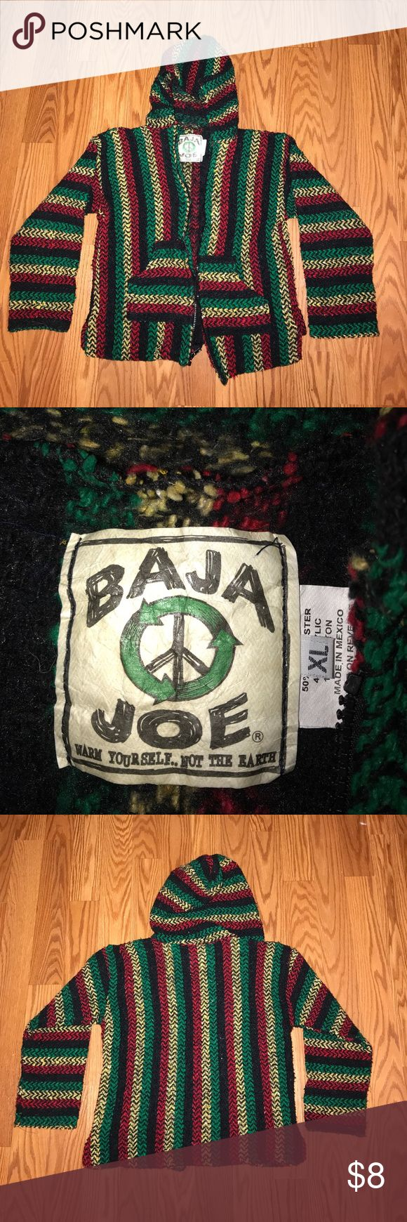 Baja jacket Hooded jacket with front zip. Great pre-owned condition! Jackets & Coats