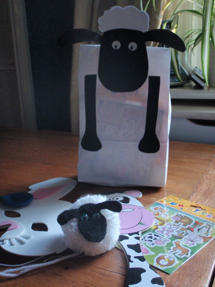 Shaun the Sheep party bags | Party time! | Pinterest ...