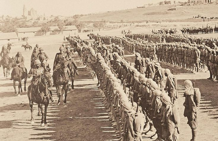 Ottoman soldiers in Israel during the First World War