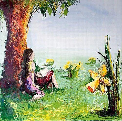 Clare Hartigan 'Under a Tree' #art #IrishArt #Painting #DukeStreetGallery