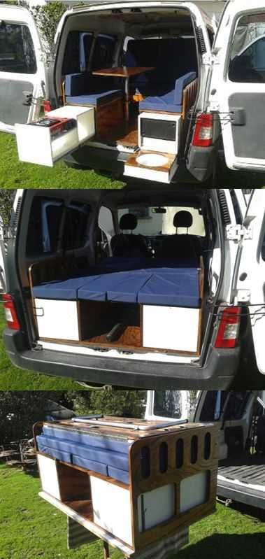 How to turn a van into a camper in 1 minute. # Ideas to # fly #camper #ideas #mi…