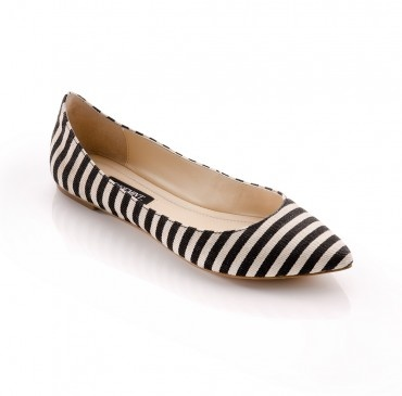 Christina : Striped Flats