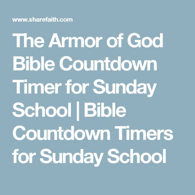 The Armor of God Bible Countdown Timer for Sunday School | Bible Countdown Timers for Sunday School