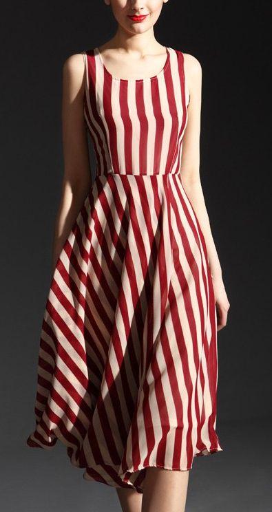 Retro stripes. Digging the pattern shift.