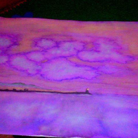"""#buenastardes  desde #gijon  #asturias . Pink Reflections...Dicen,  """"tienes pasión por los faros"""". Pues si.. sería mi ideal de chalet (ironía). #acuarela  #acuarelas  #watercolor  #watercolour  #paint  #drawing  #illustration  #pintura  #arte  #art  #instaart  #paper  #dibujo  #aquarelle  #paisaje    #cuadro  #playa  #beach  #impressionist    #impresionism  #realism  #realista  #romantic  #painting  #abstractart"""