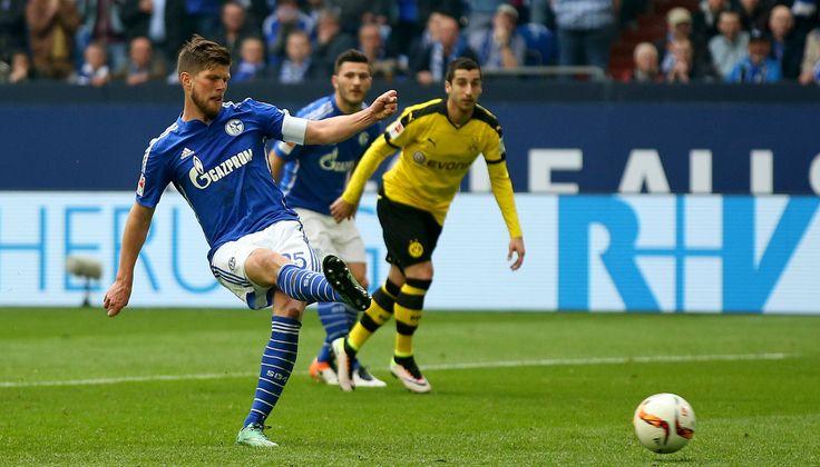 @schalke04offic #Schalke schlägt gegen Borussia Dortmund doppelt zurück. Schalke kam auch diesmal zum Ausgleich, Klaas Jan Huntelaar versenkte einen Foulelfmeter zum 2:2 #9ine