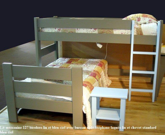 lit mezzanine bureau pas cher amazing lit mezzanine avec bureau integre chambres et lits pour. Black Bedroom Furniture Sets. Home Design Ideas