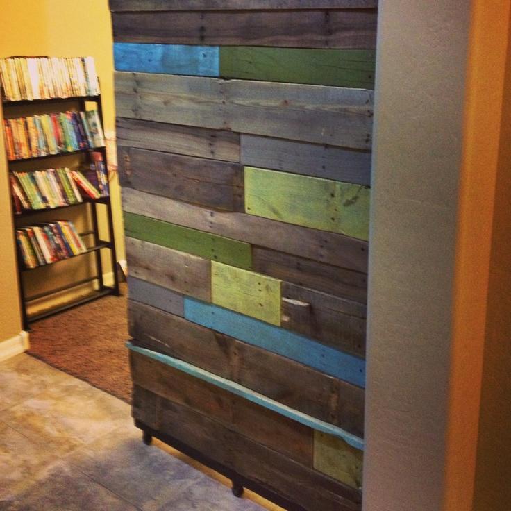 Reclaimed wood sliding door project diy reclaimedwood for Diy wood door projects