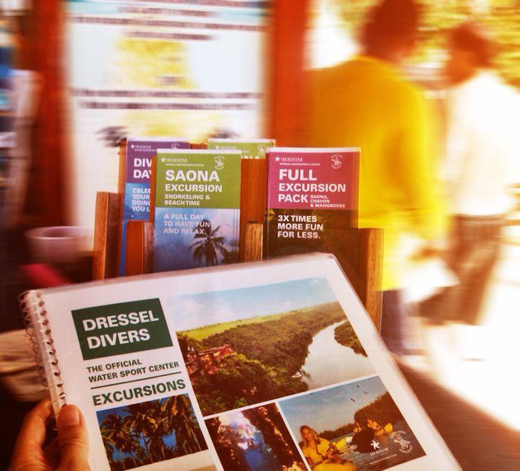 Catálogo, flyers y banner para Dressel Divers en República Dominicana.  #diseño #grafico #proyectos #estudio #limonada #impreso #graphic #design #projects #study #lemonade #print