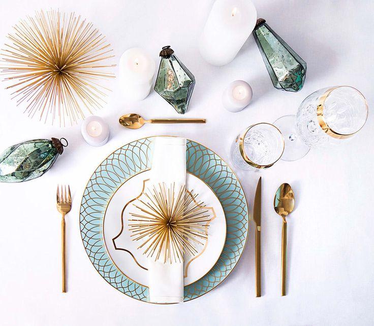 Decoración de mesas para fiestas en oro
