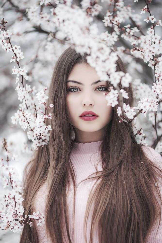 Model pose idea – Part your lips slightly like this model for effect. Blossom by…