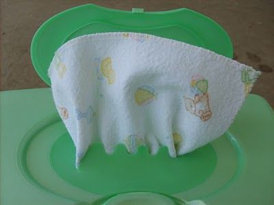 Cloth wipes. How to make them and how to fold them so they fit in a disposable…