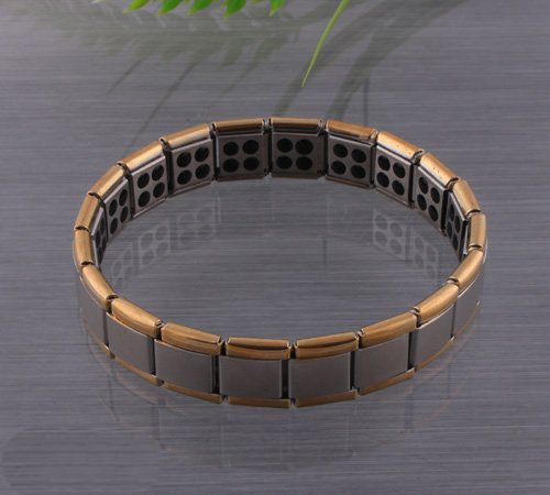 Bracelet - 12mm 24k gold/germanium/stainless steel, easy on/off - Assistive Style $30