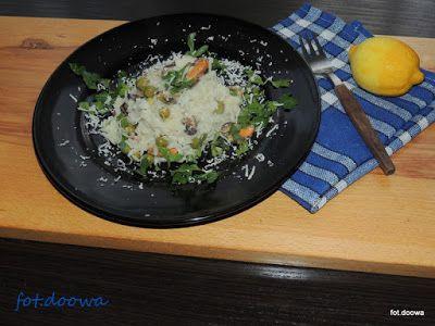 Moje Małe Czarowanie: Cytrynowe risotto z małżami